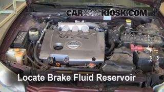 2000-2003 Nissan Maxima Brake Fluid Level Check