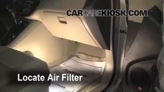 2001-2007 Toyota Highlander Cabin Air Filter Check