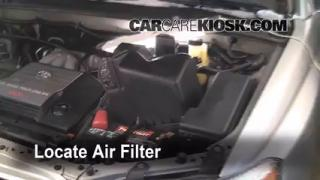 2001-2007 Toyota Highlander Engine Air Filter Check
