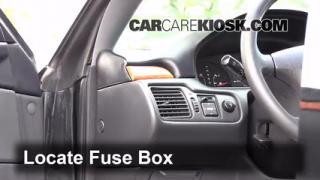 Interior Fuse Box Location: 1999-2003 Toyota Solara