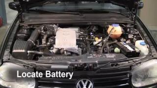 Battery Replacement: 1995-2002 Volkswagen Cabrio