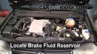 1995-2002 Volkswagen Cabrio Brake Fluid Level Check
