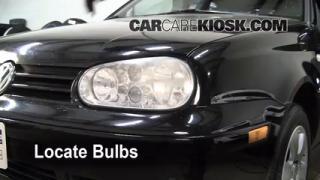 Parking Light Change 1995-2002 Volkswagen Cabrio