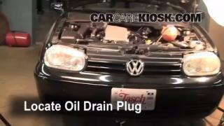 2002 Volkswagen Cabrio GLX 2.0L 4 Cyl. Oil Change Oil and Oil Filter