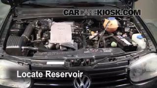 Check Windshield Washer Fluid Volkswagen Cabrio (1995-2002)