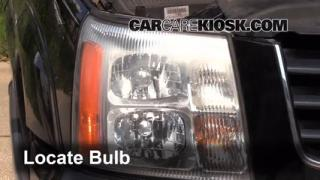 2003 Cadillac Escalade 6.0L V8 Lights Turn Signal - Front (replace bulb)