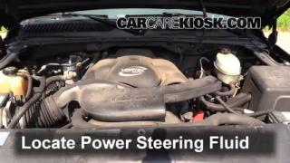2003 Cadillac Escalade 6.0L V8 Power Steering Fluid Check Fluid Level