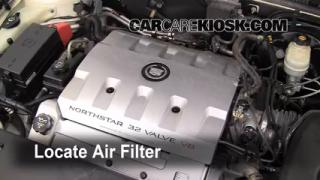 1998-2004 Cadillac Seville Engine Air Filter Check