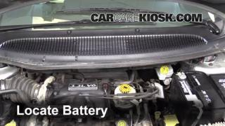 2003 Dodge Caravan SE 3.3L V6 FlexFuel Battery Replace