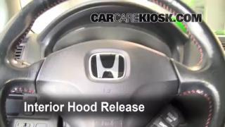 Open Hood How To 2001-2005 Honda Civic