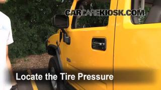 2003 Hummer H2 6.0L V8 Tires & Wheels Check Tire Pressure