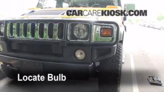 2003 Hummer H2 6.0L V8 Lights Turn Signal - Front (replace bulb)