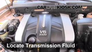 2003 Hyundai Santa Fe GLS 3.5L V6 Transmission Fluid Check Fluid Level