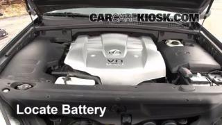 2003 Lexus GX470 4.7L V8 Battery Jumpstart
