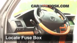 interior fuse box location 2003 2009 lexus gx470 2007 lexus 2003 2009 lexus gx470 interior fuse check