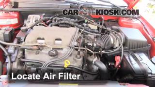 1999-2005 Pontiac Grand Am Engine Air Filter Check