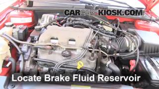 1999-2005 Pontiac Grand Am Brake Fluid Level Check
