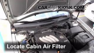 2003 Volkswagen Golf GL 2.0L 4 Cyl. (4 Door) Air Filter (Cabin) Check