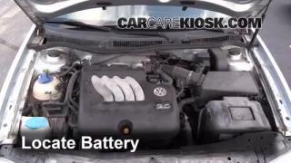 2003 Volkswagen Golf GL 2.0L 4 Cyl. (4 Door) Battery Clean Battery & Terminals