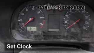2003 Volkswagen Golf GL 2.0L 4 Cyl. (4 Door) Clock Set Clock