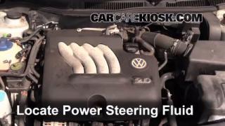 2003 Volkswagen Golf GL 2.0L 4 Cyl. (4 Door) Power Steering Fluid Add Fluid