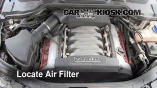 2004-2010 Audi A8 Quattro Engine Air Filter Check