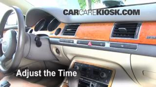 How to Set the Clock on a Audi A8 Quattro (2004-2010)