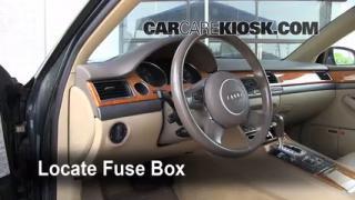 Interior Fuse Box Location: 2004-2010 Audi A8 Quattro