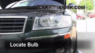 2004 Audi A8 Quattro L 4.2L V8 Lights Highbeam (replace bulb)