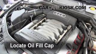 How to Add Oil Audi A8 Quattro (2004-2010)