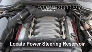 2004 Audi A8 Quattro L 4.2L V8 Power Steering Fluid Check Fluid Level