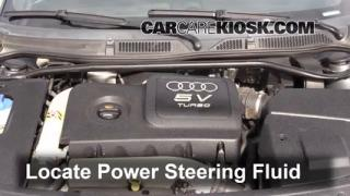 2004 Audi TT Quattro 1.8L 4 Cyl. Turbo Convertible Power Steering Fluid Check Fluid Level