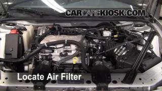 1997-2005 Buick Century Engine Air Filter Check