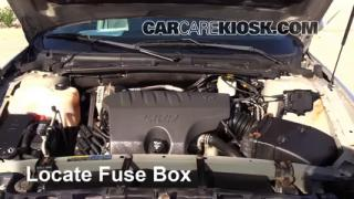 interior fuse box location 2000 2005 pontiac bonneville 2004 blown fuse check 2000 2005 pontiac bonneville