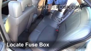 Interior Fuse Box Location: 2000-2005 Buick LeSabre