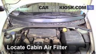 2004 Citroen C3 SX 1.4L 4 Cyl. Turbo Diesel Filtro de aire (interior) Control