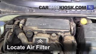 2004 Citroen C3 SX 1.4L 4 Cyl. Turbo Diesel Filtro de aire (motor) Cambio
