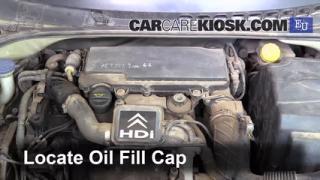2004 Citroen C3 SX 1.4L 4 Cyl. Turbo Diesel Aceite Agregar aceite
