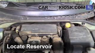 2004 Citroen C3 SX 1.4L 4 Cyl. Turbo Diesel Líquido limpiaparabrisas Agregar líquido
