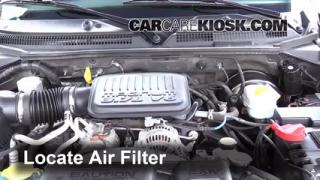 1997-2004 Dodge Dakota Engine Air Filter Check