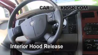 Open Hood How To 2004-2009 Dodge Durango