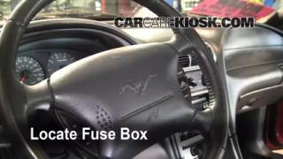 Interior Fuse Box Location: 1994-2004 Ford Mustang
