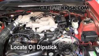 2004 Ford Mustang 3.9L V6 Coupe Oil Check Oil Level