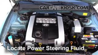 2004 Hyundai XG350 L 3.5L V6 Power Steering Fluid Fix Leaks