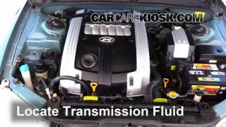 2004 Hyundai XG350 L 3.5L V6 Transmission Fluid Check Fluid Level