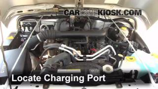2004 Jeep Wrangler Rubicon 4.0L 6 Cyl. Air Conditioner Recharge Freon