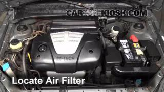 2004 Kia Rio 1.6L 4 Cyl. Air Filter (Engine) Check