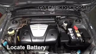 2004 Kia Rio 1.6L 4 Cyl. Battery Replace