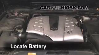2004 Lexus LS430 4.3L V8 Battery Replace