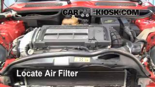2004 Mini Cooper S 1.6L 4 Cyl. Supercharged Air Filter (Engine) Replace